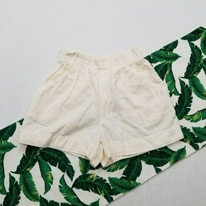 Zara Basic High Rise Paper Bag Shorts
